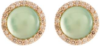 Roberto Coin 'Cocktail' diamond agate chalcedony 18k rose gold earrings