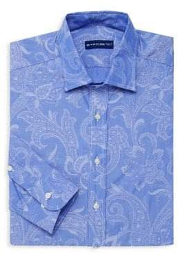 Etro Paisley Jacquard Cotton Dress Shirt