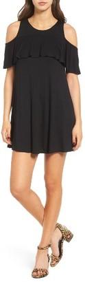 Women's Socialite Ruffle Cold Shoulder Dress $42 thestylecure.com