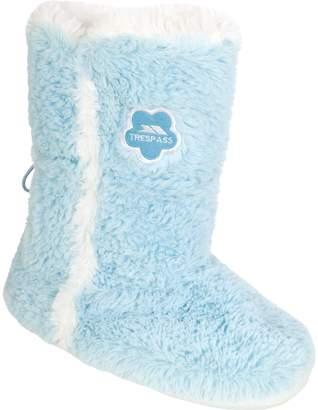 Trespass Womens/Ladies Alice Faux Fur Fluffy Slipper Boot