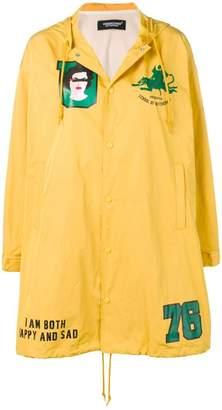 Undercover patch parka coat