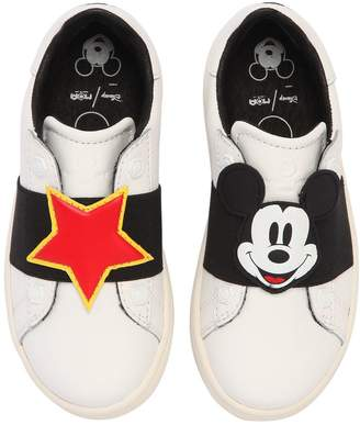 Moa Master Of Arts Mickey Mouse Leather Slip-On Sneakers
