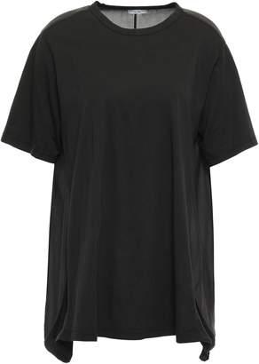 Clu (クルー) - Clu パネルデザイン コットンジャージー Tシャツ