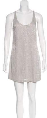 Halston Mini Beaded Dress