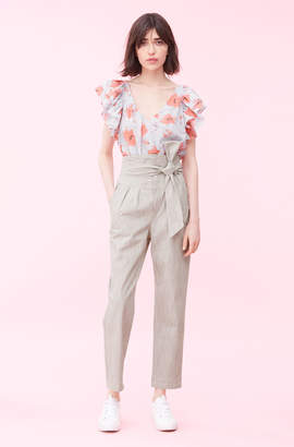 Rebecca Taylor La Vie Crisp Stripe Pant