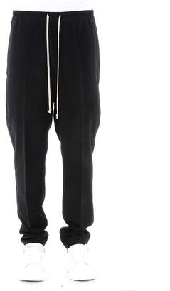 Rick Owens Black Virgin Wool Trousers