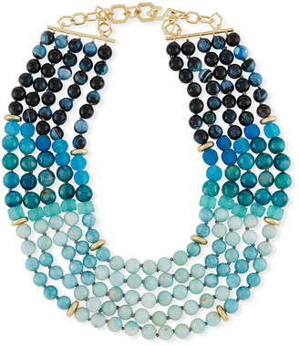 Neiman Marcus Akola Multi-Strand Necklace, Blue/Multi