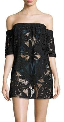 Milly Mesh Flutter-Sleeve Coverup
