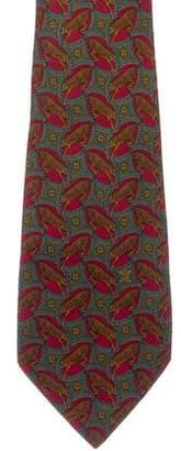 Celine Tiger Print Silk Tie