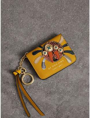 Burberry Creature Motif Leather ID Card Case Charm