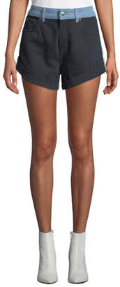IRO Willing Two-Tone Denim Shorts