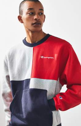 Champion Colorblock Crew Neck Sweatshirt