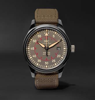Top Gun IWC SCHAFFHAUSEN Pilot's Mark Xviii Miramar 41mm Ceramic And Leather Watch