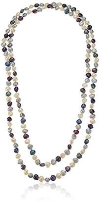 8-9mm Multicolor Pink and White Baroque Cultured Freshwater Pearl Endless-Style Strand Necklace