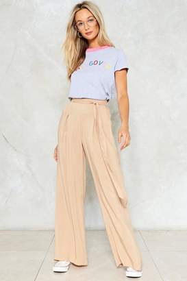 Nasty Gal Going Tie High-Waisted Pants