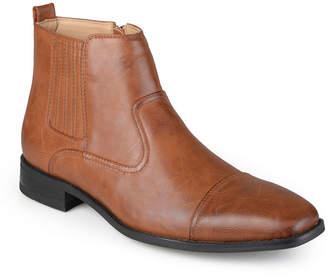 Co VANCE Vance Mens Alex Dress Boots Block Heel Zip