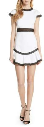 Alice + Olivia Rapunzel Stretch Cotton Fit & Flare Minidress
