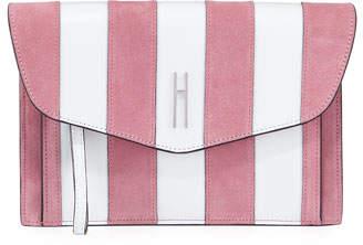 Hayward Bobby Striped Clutch Bag, White/Pink
