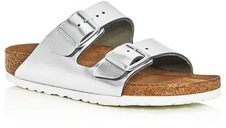 Birkenstock Arizona Metallic Two Band Slide Sandals