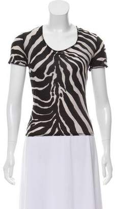 Dolce & Gabbana Animal Print Short Sleeve Top