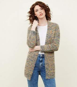 New Look Multi Coloured Neon Nep Cardigan