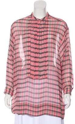 Burberry Silk Printed Top