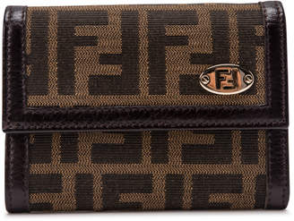 Fendi Zucca Flap Wallet Monogram Brown