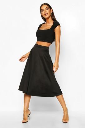 boohoo Arianna Plain Full Circle Midi Skirt