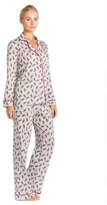 Cosabella Bella Stripe Printed Long Sleeve Top Pant Pajama Set