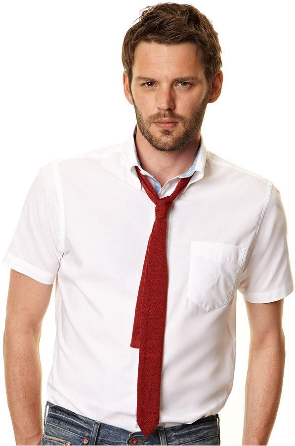 Nautica Shirt, Short Sleeve Strech Solid Shirt