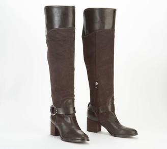 Marc Fisher Leather/Suede Medium Calf Over the Knee Boots - Editer