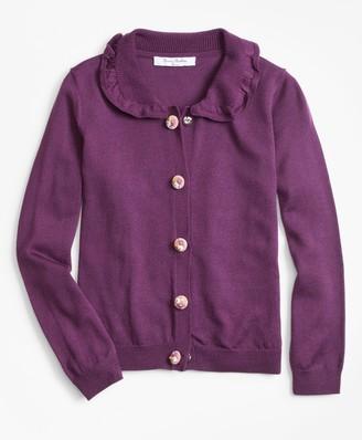 Brooks Brothers Girls Wool Ruffle Cardigan