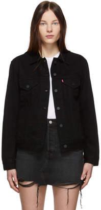 Levi's Levis Black Denim Ex-Boyfriend Trucker Jacket