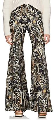 Chloé Women's Paisley Silk-Blend Flared Pants - Grn, Blk