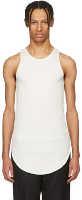 TAKAHIROMIYASHITA TheSoloist. White Long Tail Tank Top