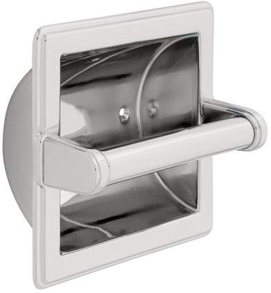 9097PC Recessed Paper Holder with Beveled Edges, Designed for easy installation By Franklin Brass