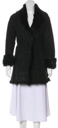 Andrew Marc Suede Shearling-Trimmed Coat