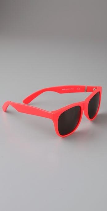 Super Sunglasses Fluo Red Sunglasses