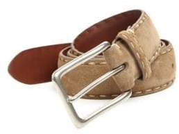 Saks Fifth Avenue COLLECTION Contrast Stitch Suede Belt