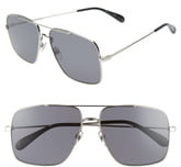 Givenchy 61mm Polarized Square Sunglasses