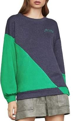 BCBGMAXAZRIA Color-Block French Terry Sweatshirt
