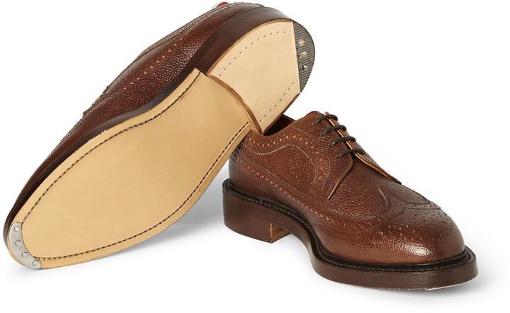 Thom Browne Pebble-Grain Leather Brogues
