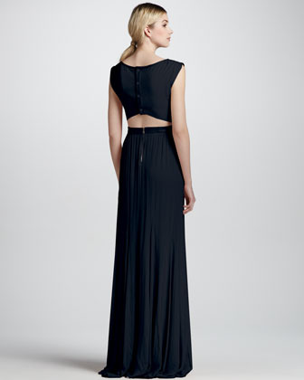 Alice + Olivia Triss Sleeveless Cutout-Back Gown