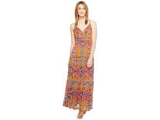 Taylor Floral Jersey Mesh Maxi Women's Dress