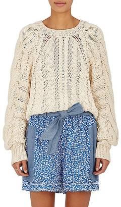 Ulla Johnson Women's Niva Cotton Crop Sweater $575 thestylecure.com