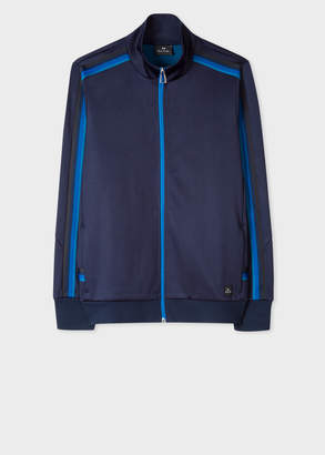 Paul Smith Men's Dark Navy Zip-Front Track Top With Stripe Trims
