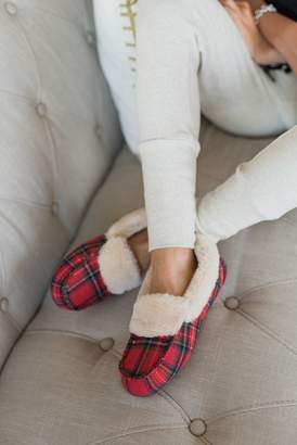 Ampersand Avenue Winter Plaid Slippers