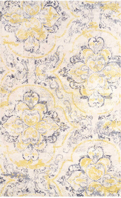 nuLoom Floral Cortney Machine-Made Microfiber Contemporary Rug