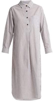 Mara Hoffman Hannah Striped Cotton Dress - Womens - White Black