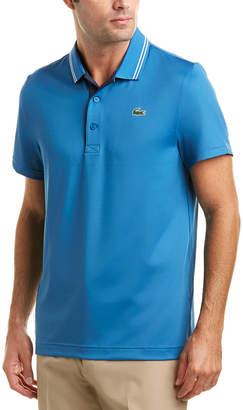 Lacoste Sport Jersey Jacquard Collar Polo